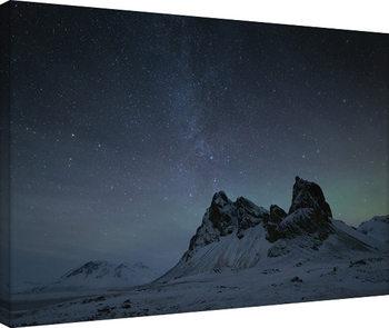 David Clapp - Starry Night, Eystrahorn Mountains, Iceland Canvas Print
