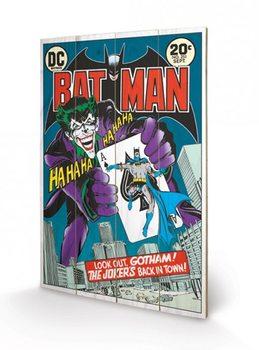 DC COMICS - joker  back in town Panneaux en Bois