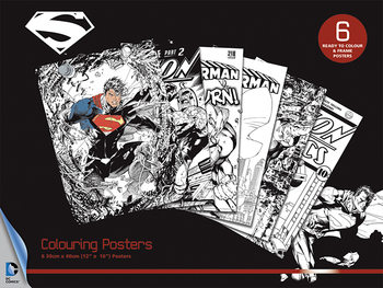 Coloring poster DC Comics - Superman