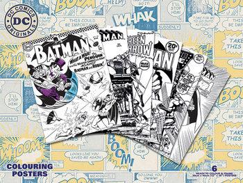 Poster de colorir DC Originals - Retro