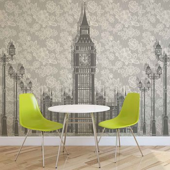 Papel de parede Abstract Floral London Design