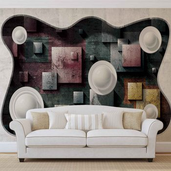Papel de parede  Abstract Modern Design Art Spheres