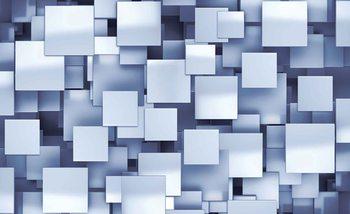 Papel de parede Abstract Squares Modern Blue
