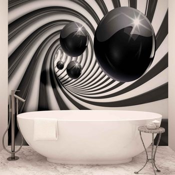 Papel de parede  Abstract Swirl Modern Spheres