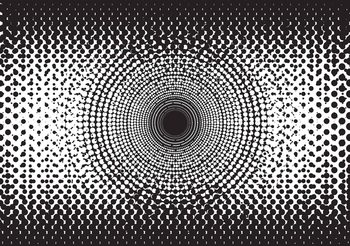Murais de parede Abstrakcyjne czarno-białe kropki