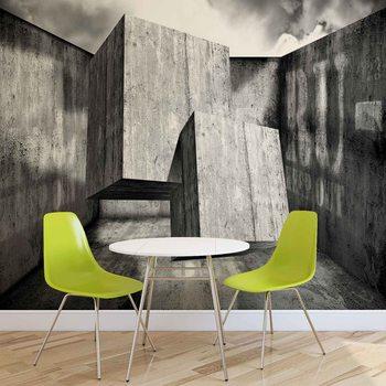 Murais de parede Abstrakcyjny wzór - beton