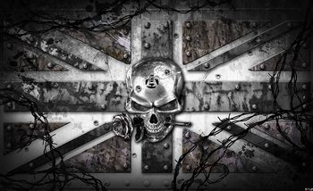 Papel de parede  Alchemy Skull Union Jack Tattoo