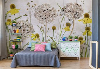 Papel de parede  Alliums And Heleniums