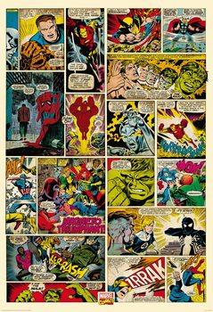 Decoração de parede Avengers Comic - Marvel