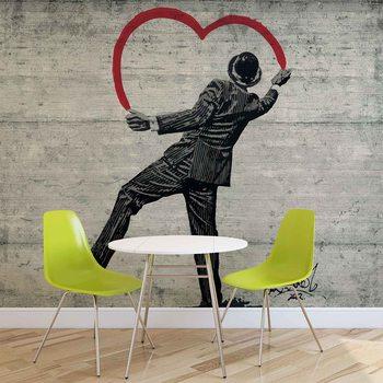 Papel de parede Banksy Graffiti Concrete Wall