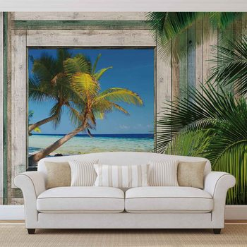 Papel de parede Beach Tropical View