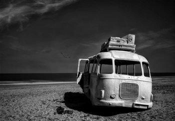 Papel de parede Beached Bus
