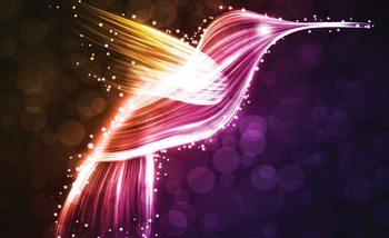 Papel de parede Bird Hummingbird Neon Colours