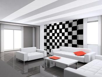 Papel de parede  Black + White Squares