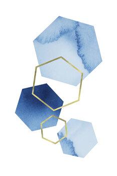 Murais de parede Blue geometric