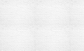 Papel de parede Brick Wall White