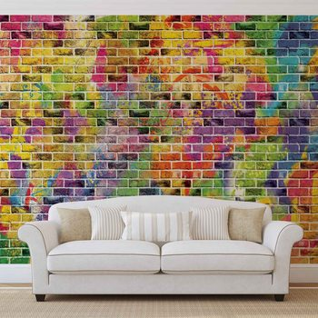 Papel de parede Bricks Multicolour