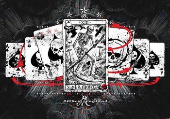 Papel de parede Cards Skull Tarot