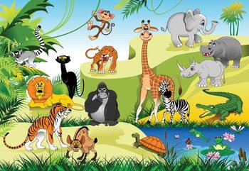 Papel de parede Cartoon Animals