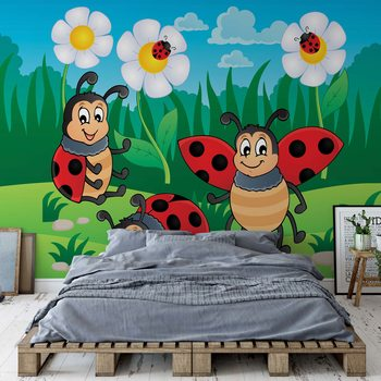 Papel de parede Cartoon Ladybirds