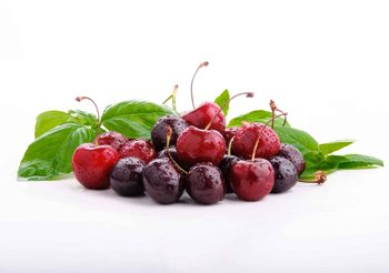 Papel de parede Cherries With Leaves