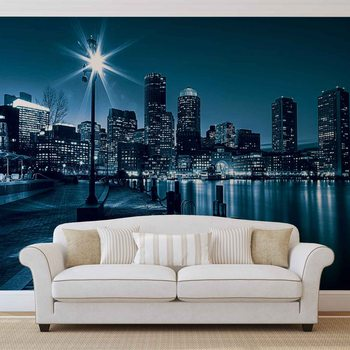 Papel de parede  City Boston Skyline