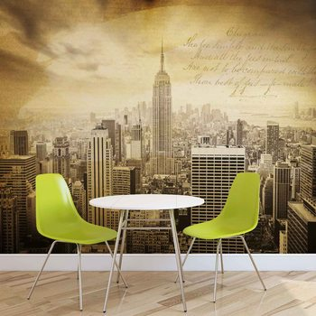 Papel de parede  City New York Vintage Sepia