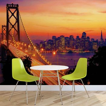 Papel de parede City Skyline Golden Gate Bridge