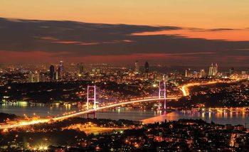 Papel de parede City Skyline Istanbul Bosphorus