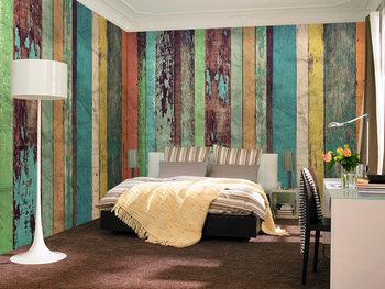 Papel de parede  Colored Wooden