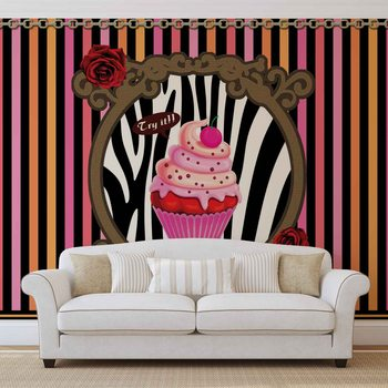 Papel de parede  Cupcake Stripes