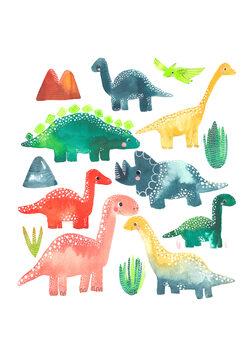 Murais de parede Dinosaur