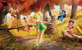 Papel de parede Disney Fairies Tinker Bell Rosetta Klara