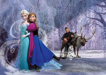 Papel de parede Disney Frozen Elsa Anna
