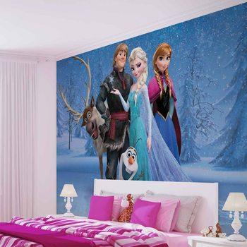 Papel de parede  Disney Frozen Elsa Anna Olaf Sven