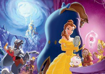 Papel de parede Disney Princesses Belle Beauty Beast