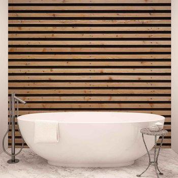 Murais de parede Drewniane listwy