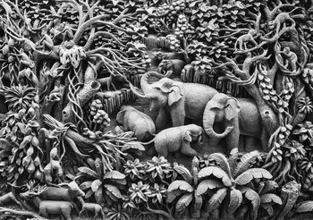 Papel de parede Elephants Jungle