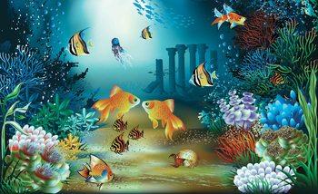 Papel de parede Fishes Corals Sea