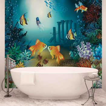 Papel de parede  Fishes Corals Sea