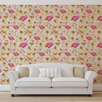 Papel de parede Flamingos Bird Pattern