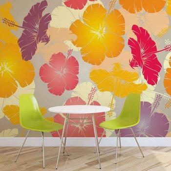Papel de parede Flowers Abstract