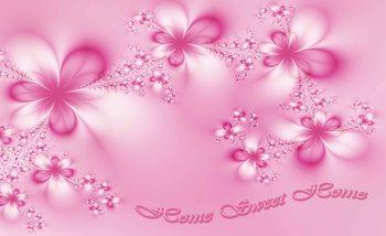 Papel de parede Flowers Home Pink