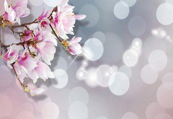 Papel de parede  Flowers Pastel Bokeh Modern Design