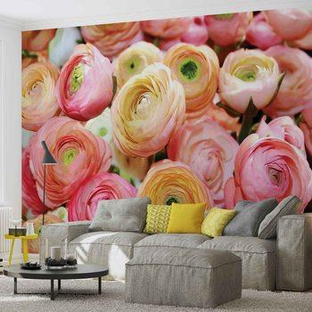 Papel de parede Flowers Peonies Colours