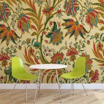Papel de parede Flowers Plants Pattern Vintage
