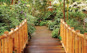 Papel de parede Forest Nature Path Bamboo