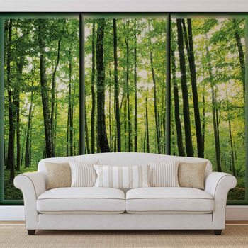 Papel de parede Forest Trees Green Nature