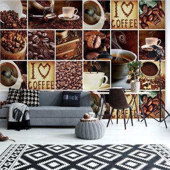Papel de parede  I Love Coffee Squares