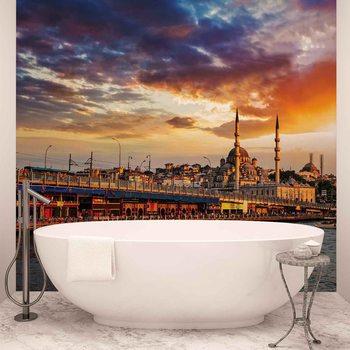 Papel de parede  Istanbul City Sunset